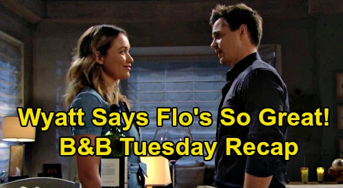 The Bold and the Beautiful Spoilers Recap: Tuesday, August 11 - Flo's One Kidney Greatness - Carter Confirms Ridge & Brooke Divorce