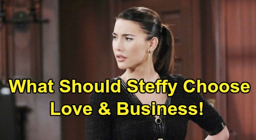 The Bold and the Beautiful Spoilers: Should Steffy Choose Love or Business - Can Forrester Queen Have Both?