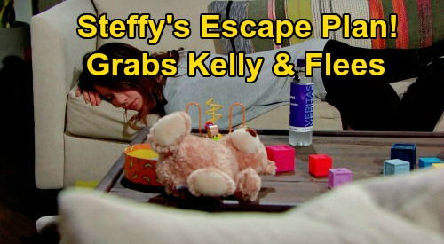 The Bold and the Beautiful Spoilers: Steffy's Escape Plan, Tries to Run Away with Kelly – Quick Getaway Is Rock Bottom?