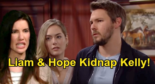 The Bold and the Beautiful Spoilers: Steffy Calls Liam & Hope Kidnappers, Accuses Them of Abducting Daughter Kelly