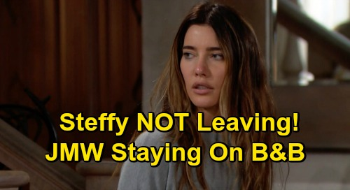 The Bold and the Beautiful Spoilers: Steffy NOT Leaving, Jacqueline MacInnes Wood Staying on B&B – Onscreen Recovery & Finn Love Next