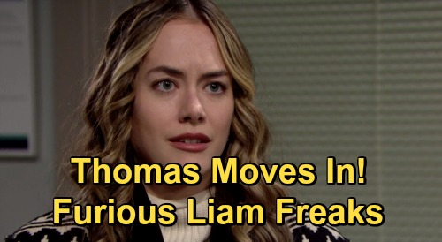 The Bold and the Beautiful Spoilers: Thomas Moves In, Hope Approves - Liam Freaks Over Douglas' Daddy New Living Arrangement