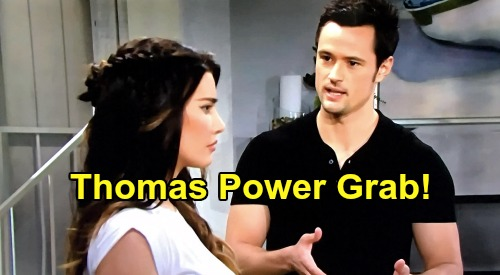 The Bold and the Beautiful Spoilers: Thomas Steals Power From Steffy – Family Battle At Forrester Creations?