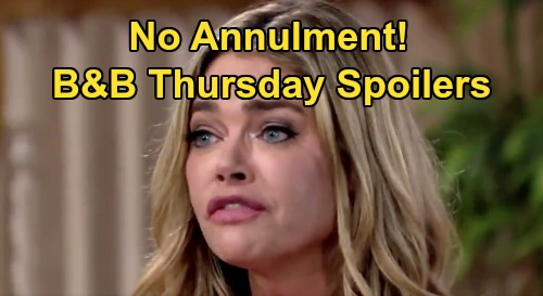 The Bold and the Beautiful Spoilers: Thursday, August 20 - Finn Weighs Steffy's Addiction vs Pain Relief - Shauna Says NO Annulment