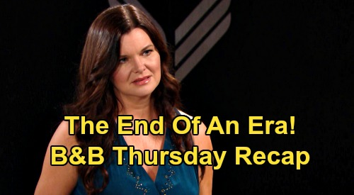 The Bold and the Beautiful Spoilers: Thursday, August 27 Recap - Ridge Blasts Lying Brooke - Bill Blows Katie Reconciliation