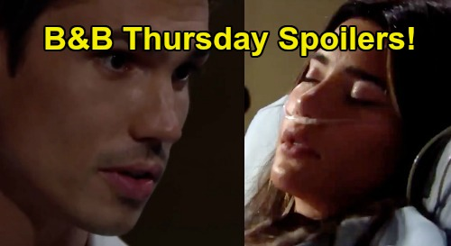 The Bold and the Beautiful Spoilers: Thursday, July 23 - Steffy Rushed To ER, Treated By Dr. Finn - Wyatt Sees Flo's Help Message