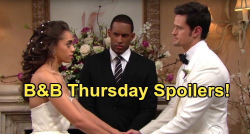The Bold and the Beautiful Spoilers: Thursday, July 9 - Thomas & Zoe's Wedding Comes To A Screeching Halt