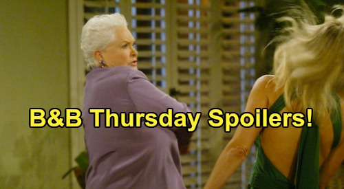 The Bold and the Beautiful Spoilers: Thursday, June 4 - Stephanie & Brooke's Big Bear Brawl - Rick Gets A Visit From Kimberly