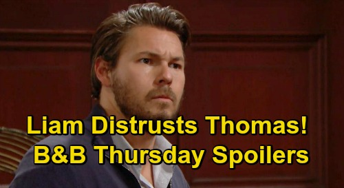 The Bold and the Beautiful Spoilers: Thursday, October 22 - Liam Tells Hope He Distrusts Thomas - Carter & Zoe Romantic Evening