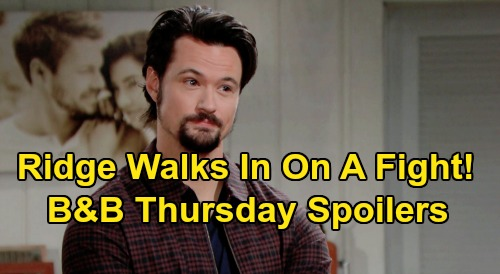 The Bold and the Beautiful Spoilers: Thursday, September 17 - Ridge Walks In On A Fight - Finn & Steffy Relationship Sudden Change