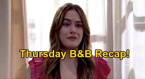 The Bold and the Beautiful Spoilers: Thursday, September 24 Recap - Liam & Hope Refuse To Let Steffy See Kelly - Irate Mom Bashes Brooke