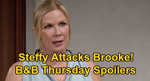 The Bold and the Beautiful Spoilers: Thursday, September 24 - Steffy Angrily Attacks Brooke - Ridge Rushes To Daughter's Side