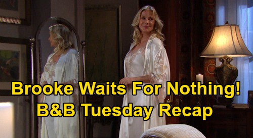 The Bold and the Beautiful Spoilers: Tuesday, August 25 Recap - Brooke Waits For Ridge In Vain - Ridge Accepts Shauna As Wife