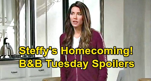 The Bold and the Beautiful Spoilers: Tuesday, August 4 - Steffy Comes Home - Katie Rages At Sally's Lies - Wyatt & Flo Passion