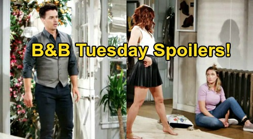 The Bold and the Beautiful Spoilers: Tuesday, July 21 - Flo Kidnapped, Learns Sally Baby Plan - Bill Begs Katie Not To Break Up Family