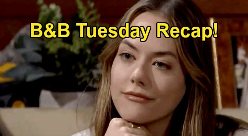 The Bold and the Beautiful Spoilers: Tuesday, October 20 Recap - Liam Agrees To Focus On Hope - Steffy & Finn Declare Love