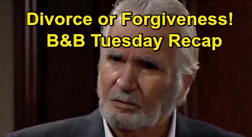The Bold and the Beautiful Spoilers: Tuesday, October 27 Recap - Brooke Insists Eric Divorce Wife - But Quinn Asks For Second Chance
