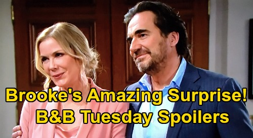 The Bold and the Beautiful Spoilers: Tuesday, October 6 - Shauna Confesses To Ridge - Brooke Finds An Amazing Surprise At Home