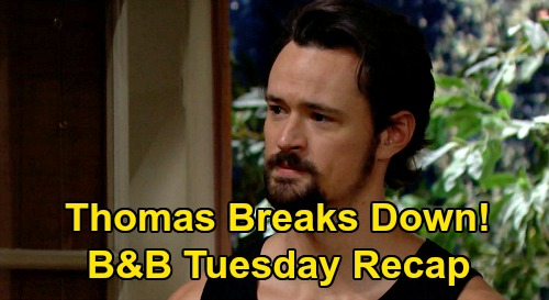 The Bold and the Beautiful Spoilers: Tuesday, September 29 Recap - Steffy's Addiction Realization - Thomas Breaks Down Over Sister