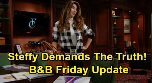 The Bold and the Beautiful Spoilers Update: Friday, November 6 – Liam Rejects Thomas' Bogus Doll Story – Steffy Wants Truth from Hope