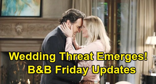The Bold and the Beautiful Spoilers Update: Friday, October 2 – Secret Wedding Threat Emerges – Nervous Shauna's a Train Wreck