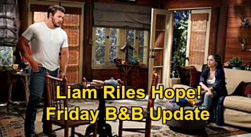 The Bold and the Beautiful Spoilers Update: Friday, September 18 – Steffy Scrambles to Prevent Drug Bust – Liam's Obsession Riles Hope