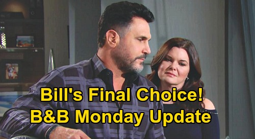 The Bold and the Beautiful Spoilers Update: Monday, September 14 – Bill Picks One True Love Logan Sister – Ridge's New Wedding