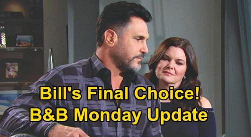 The Bold and the Beautiful Spoilers Update: Monday, September 14 – Bill Picks One True Love Logan Sister – Ridge's New Wedding