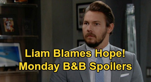 The Bold and the Beautiful Spoilers Update: Monday, September 7 – Liam Blames Hope for Steffy's Outburst – Finn's Desperate Patient