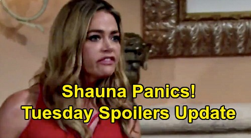 The Bold and the Beautiful Spoilers Update: Tuesday, August 11 – Shauna Marriage Trap Panic, Quinn Says Keep Quiet – Brooke Bomb Brewing