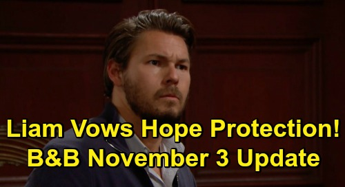 The Bold and the Beautiful Spoilers Update: Wednesday, November 4 – Liam Rages Over Finn's Thomas News – Vows to Protect Hope