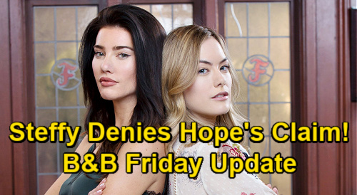 The Bold and the Beautiful Spoilers Update: Friday, January 15 – Steffy Denies Targeting Hope's Hubby – Finn Threatens Liam
