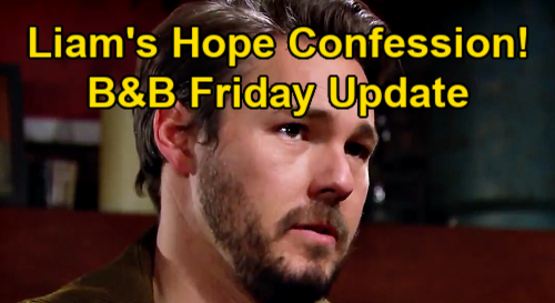The Bold and the Beautiful Spoilers Update: Friday, January 8 – Liam Struggles to Tell Hope His Mistake – Paris' Change of Plans