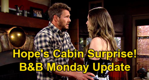The Bold and the Beautiful Spoilers Update: Monday, May 17 – Hope Gets Liam's Cabin Surprise – Bill Explodes at Wyatt
