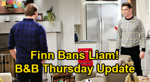 The Bold and the Beautiful Spoilers Update: Thursday, January 14 – Finn Bans Liam from Steffy – Brooke Suspects Hope's Secret