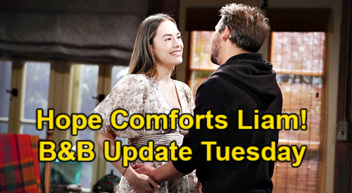 The Bold and the Beautiful Spoilers Update: Tuesday, May 4 – Brooke Suspects Killer Thomas – Hope Comforts Shattered Liam
