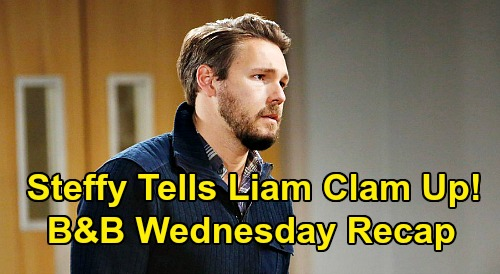 The Bold and the Beautiful Spoilers: Wednesday, December 9 Recap - Steffy Insists Liam Keep Cheating Secret - Quinn Surprises Eric