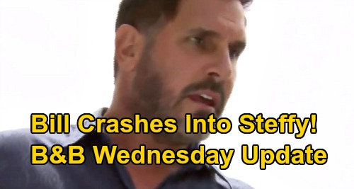 The Bold and the Beautiful Spoilers: Wednesday, July 22 Update – Bill Injures Steffy in Scary Crash – Sally Gets Ready For Wyatt