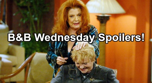 The Bold and the Beautiful Spoilers: Wednesday, June 10 - Sally & Stephanie Drunken Haircut - Bridget's Scary Ordeal - Ridge Asks Brooke To Elope