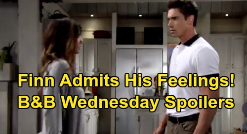 The Bold and the Beautiful Spoilers: Wednesday, September 16 - Finn Comes Clean About Feelings For Steffy - Thomas & Liam Showdown