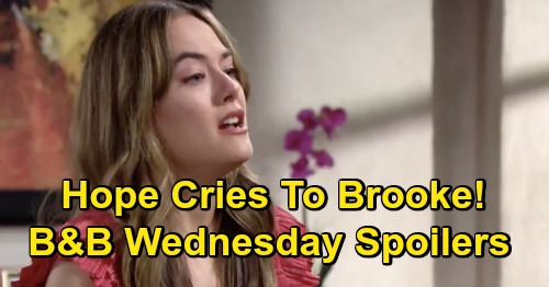 The Bold and the Beautiful Spoilers: Wednesday, September 23 - Steffy Accuses 'Lope' of Kidnapping Kelly - Hope Cries To Brooke