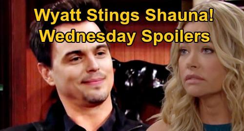 The Bold and the Beautiful Spoilers: Wednesday, September 9 - Wyatt's Joke Upsets Shauna - Brooke & Ridge Interrupted