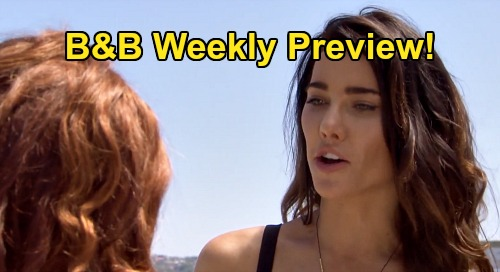 The Bold and the Beautiful Spoilers: Week of July 13 Preview – Sally's Ocean Tumble – Liam's Bachelor Party – Ridge & Quinn Caught Kissing