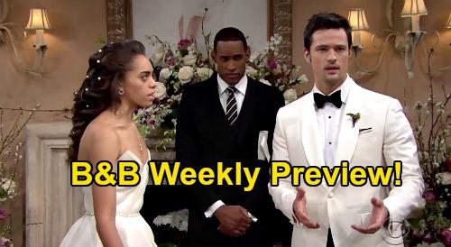 The Bold and the Beautiful Spoilers: Week of July 6 – Brooke's Betrayal Baby – Thomas' Wedding Horror – Ridge & Eric's Showdown
