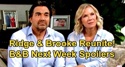 The Bold and the Beautiful Spoilers: Week of October 5 – Ridge & Brooke Reunite, Takedown Quinn – Zende Returns with Shocker