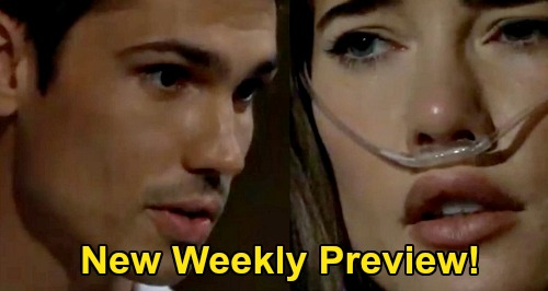 The Bold and the Beautiful Spoilers: Weekly Preview - Ridge & Shauna Married - Steffy Meets Dr. Finnegan - Sally Hospitalized