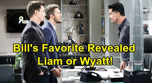 The Bold and the Beautiful Spoilers: Who Is Bill's Favorite, Liam or Wyatt? – See Which Adult Son 'Dollar Bill' Really Prefers