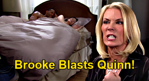 The Bold and the Beautiful Spoilers: Brooke Accuses Quinn of Cheating, Blasts Enemy