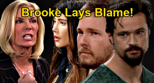 The Bold and the Beautiful Spoilers: Brooke Plays Blame Game – Steffy, Liam & Thomas Get Bashed Over Cheating & Baby Drama