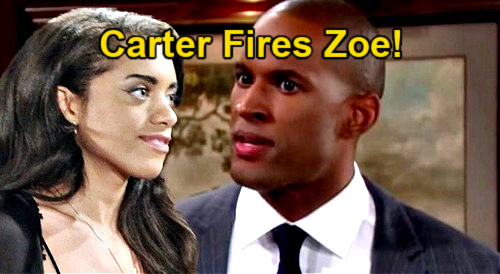 The Bold and the Beautiful Spoilers: Carter Angry, Gets Zoe Fired - Pursuit of Zende Constitutes Harassment at Forrester?